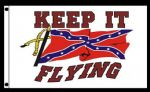 "Confederate Flag ""Keep It Flying"" Flag"